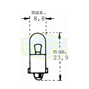 Auto-Lampe 12V 3W Glassockel