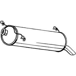 Endschalldämpfer Citroen C2 C3 bei Autoteile Preiswert
