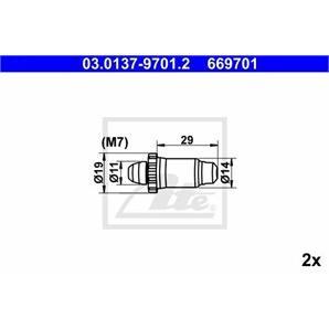 ATE Bremsbacken-Montagesatz hinten BMW Ford MG Peugeot Rover bei autoteile-preiswert kaufen