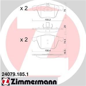 Zimmermann Bremsscheiben 355mm Bremsbeläge vorne Jaguar XF XK