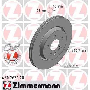 ZIMMERMANN SPORT Bremsscheiben Beläge Vorne Opel Astra J POC J17 Zafira C J61