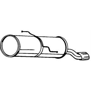Endschalldämpfer mit Blende Peugeot 206 206+ bei autoteile-preiswert kaufen