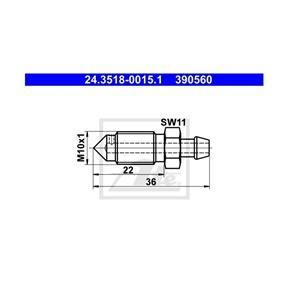ATE Entlüfterschraube/-ventil ATE Entlüfterschraube/-ventil 24.3518-0015.1