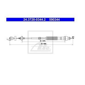 ATE Kupplungsseil für Citroen Berlingo First Großraumlimousine kaufen | Autoteile-Preiswert