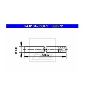 ATE Universal Bremsleitung  5 Meter 6mm