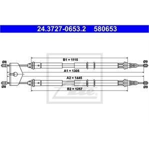 ATE Handbremsseil hinten Ford Fiesta Fusion Mazda 2 kaufen - Autoteile-Preiswert
