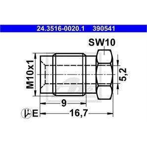 ATE Überwurfschraube 24.3516-0020.1