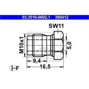 ATE Überwurfschraube 03.3516-0602.1
