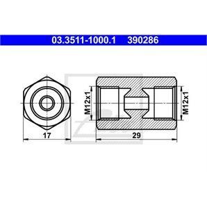 ATE Adapter für Bremsleitung 17mm