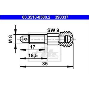ATE Entlüfterschraube/-ventil ATE Entlüfterschraube/-ventil 03.3518-0500.2
