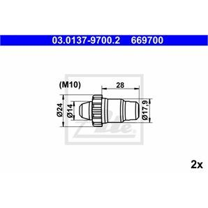 ATE Bremsbacken-Montagesatz hinten Audi BMW Citroen Fiat Peugeot Porsche VW