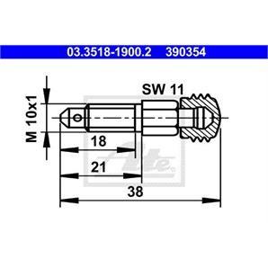 ATE Entlüfterschraube/-ventil 03.3518-1900.2