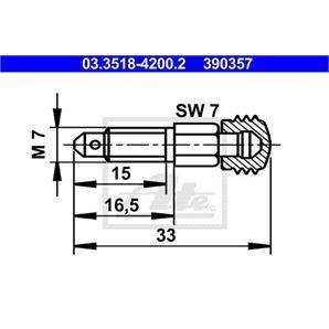 ATE Entlüfterschraube/-ventil ATE Entlüfterschraube/-ventil 03.3518-4200.2