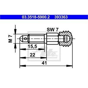 ATE Entlüfterschraube/-ventil ATE Entlüfterschraube/-ventil 03.3518-5900.2