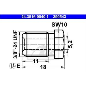 ATE Überwurfschraube 24.3516-0040.1 für  kaufen | Autoteile-Preiswert