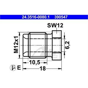 ATE Überwurfschraube 24.3516-0080.1 für  kaufen | Autoteile-Preiswert