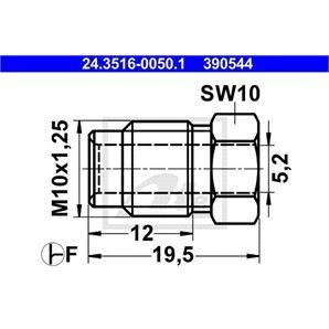 ATE Überwurfschraube 24.3516-0050.1