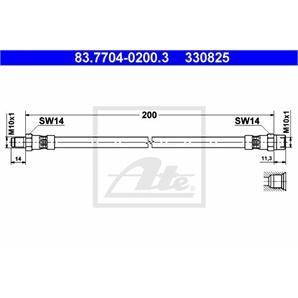 ATE Bremsschlauch hinten BMW 2500-3.3 3 5 6 7 8 Z1 Z3