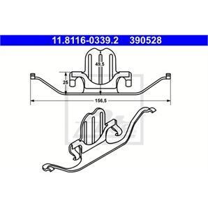 ATE Feder für Bremssattel BMW 1 3 5 X1 Z4