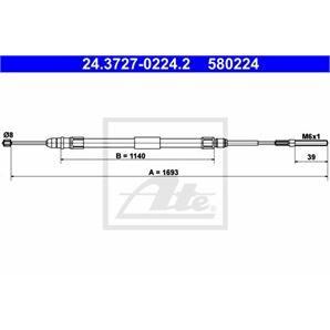 ATE Handbremsseil hinten links für BMW 3er E46 kaufen | Autoteile-Preiswert
