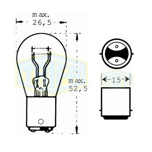 Auto-Lampe 24V 21/5W
