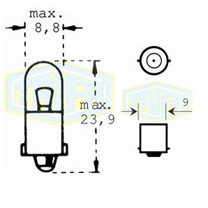 Auto-Lampe 24V 2W