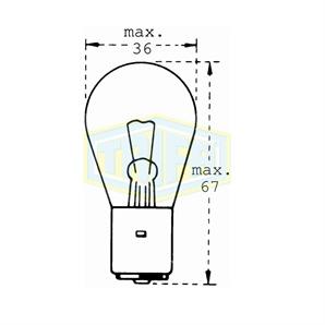 Auto-Lampe 24V 35W