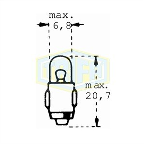 Auto-Lampe 24V 3W BA7