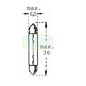 Auto-Lampe 24V 3W Glassockel