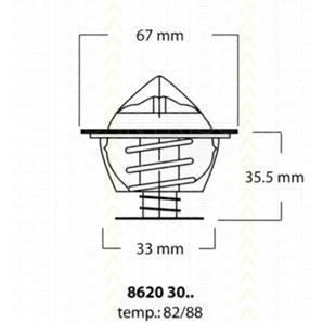 Triscan Thermostat für BMW 2000-3.2 2500-3.3 5 6 7 kaufen | Autoteile-Preiswert