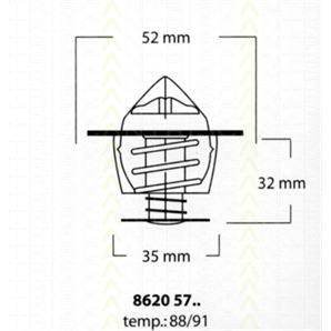 Triscan Thermostat Ford Mazda VW kaufen - Autoteile-Preiswert