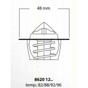 Triscan Thermostat Daewoo Espero Wartburg 353