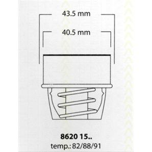 Triscan Thermostat Renault 16 19 4 5 6