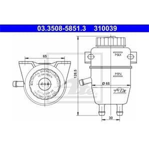 ATE Ausgleichsbehälter für Bremsflüssigkeit BMW 1500-2000 1502-2002 3er