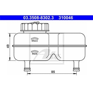ATE Ausgleichsbehälter für Bremsflüssigkeit Opel Kadett B C