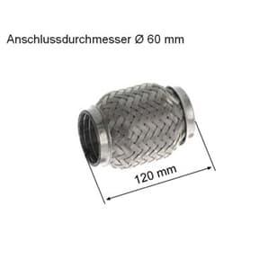 HJS Flexrohr für Abgasanlage für BMW 3er E46 kaufen   Autoteile-Preiswert
