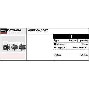 Bremssattel hinten links Audi A2 Seat Cordoba Ibiza VW Polo