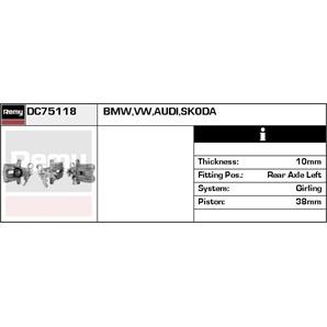 Bremssattel hinten links Audi A4 A6 Skoda Superb VW Passat
