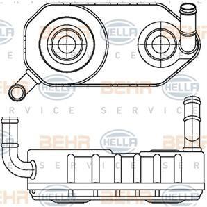 Hella Ölkühler für Automatikgetriebe Seat VW