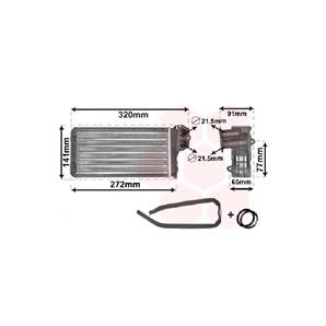 Heizungskühler Peugeot 206 + CC SW 1,1 - 2,0 + 16V S16 HDi