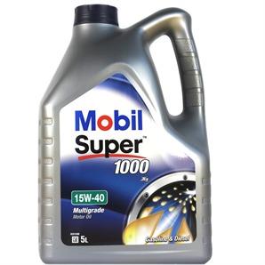 5 Liter Mobil Super 1000 X1 15W-40 Motoröl
