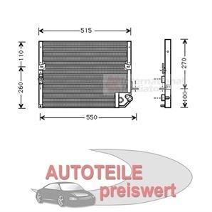 Klimakondensator ohne Trockner Toyota Hilux II 2,4 i 2,4 d + 4WD