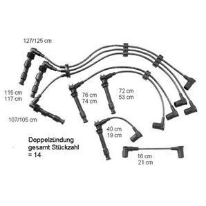 Beru Zündkabelsatz ZEF601 Porsche 911 3.6 3.8