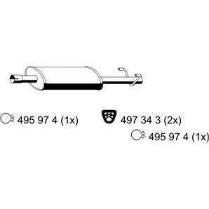 Ernst Mittelschalldämpfer VW LT bei Autoteile Preiswert
