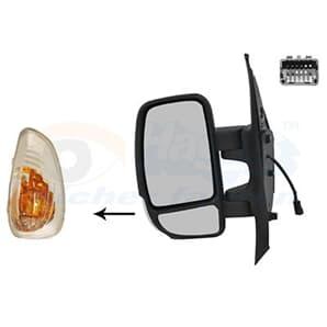 Außenspiegel links bezeizbar + Blinklicht Nissan NV400 Opel Movano Renault Master2,3CDTI