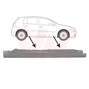Van Wezel Einstiegsblech rechts VW Golf 5 Jetta