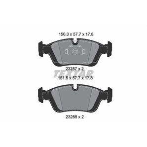 Textar Epad Bremsbeläge vorne BMW BMW E36 316 318 320 323 325 Z3 Z4