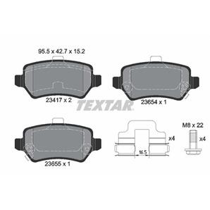 Textar Bremsbeläge hinten für Kia Venga Opel Astra G H Combo Meriva Zafira A kaufen | Autoteile-Pre