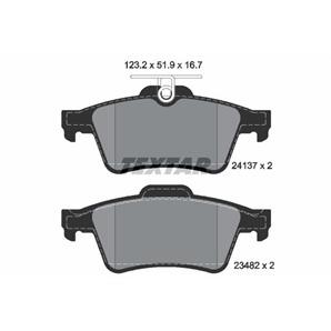 Textar Bremsbeläge hinten für Citroen Ford Jaguar Mazda Opel Renault Saab Teves kaufen   Autoteile-