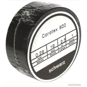 Elparts Isolierband schwarz Länge 2,5m Breite 19mm Temperaturbereich -40 °C, bis +90 °C